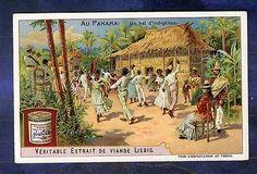 chromo Liebig S833 Panama bal Indigene Indigenous Dance Danse Old Trade Card