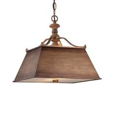 Minka Lavery 4207-290 Abbott Place 2 Light Large Pendant This item by Minka Lavery has a classic oak patina finish. For use with two 100-watt frosted in…