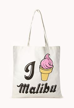i love malibu tote Malibu, Latest Fashion, Summertime, Forever 21, Reusable Tote Bags, Accessories, Nailart, Shopping, Calm