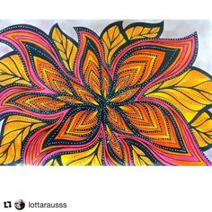 """Mental Images Coloring Books (@paivivesala_art) on Instagram: """"So energizing picture, colored by @lottarausss ❣️Colored with #mentalcolorpalette for energizing,…"""""""