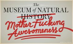 """The Museum of Natural Mother F-ing Awesomeness — Friends of Type - Jessica Hische """"IFLM"""""""