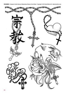 Tattoo flash book №2 - сross