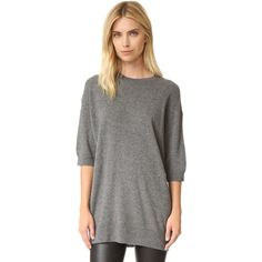 Vince Slouch Cashmere Sweater ($325) ❤ liked on Polyvore featuring tops, sweaters, cashmere sweater, cashmere crew neck sweater, slouchy sweaters, crew neck sweaters and crew top