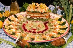 """Il cappon magro, Liguria - The main dish of culinary tradition in Liguria during the period of Lent is """"cappon magro"""", which brings together products of the land (vegetables) with those of the sea (fish and shellfish), creating a plate of great taste and colour. (Ph. © Roberto Merlo)"""