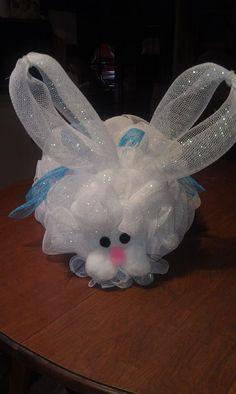 Deco Mesh Bunny so cute