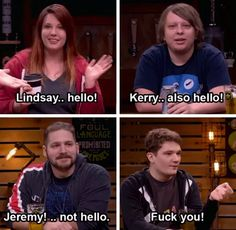 Lindsay, Kerry, Jeremy and Michael. Hello and fuck you, off topic