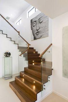 Robertsons Design Via Roma staircase Railing Ideas, Stair Railing, Isle Of Capri, Modern Staircase, House Stairs, Mountain Homes, House And Home Magazine, Hallways, Stairways
