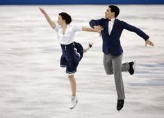 Anna Cappellini and Luca Lanotte of Italy compete in the ice dance short dance figure skating competition at the Iceberg Skating Palace duri...
