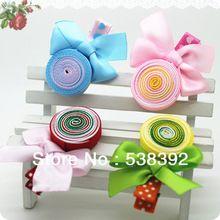 Moda alta calidad envío gratuito imprimir Ribbion Lollipops accesorios de los niños accesorios para el cabello niñas broche para el cabello(China (Mainland))
