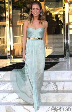 Kristin Cavallari Light Blue Prom Dress at Marine Corps Ball Red Carpet Dress