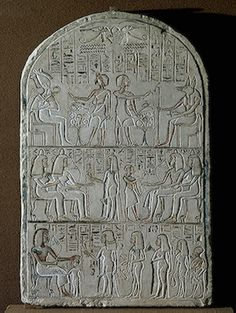 Stele of Setau Decorated with Three Rows of Depictions, 14th century BC