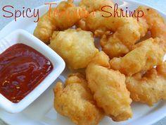 My Favorite Things: Spicy Tempura Shrimp Shrimp Appetizers, Shrimp Dishes, Shrimp Recipes, Fish Recipes, Asian Recipes, Appetizer Recipes, Yummy Recipes, Shrimp Tempura, Healthy Dieting