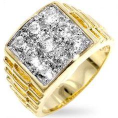 Hollywood Simulated Diamond Men's #Bling Ring!