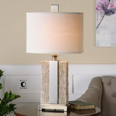 "Uttermost Bonea 29"" H Table Lamp with Drum Shade"