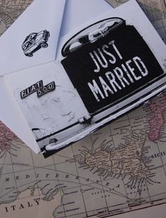 Just Married Thank You card on fine Italian paper - Pack of 10. £14.99, via Etsy.