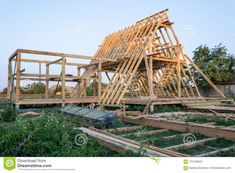 A Frame House Plans, Pool House Plans, A Frame Cabin, Eco Construction, Residential Construction, Triangle House, Build A Frame, Building A Cabin, Tree House Designs
