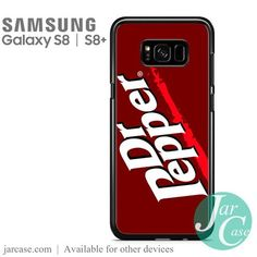 Dr Pepper Logo Phone Case for Samsung Galaxy Galaxy S8, Samsung Galaxy, Soda Brands, Dr Pepper, S8 Plus, Stuffed Peppers, Phone Cases, Logo, Sodas