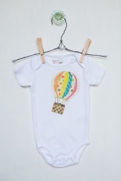 Baby Girl Onesie Hot Air Balloon by LilyCole on Etsy, $18.00