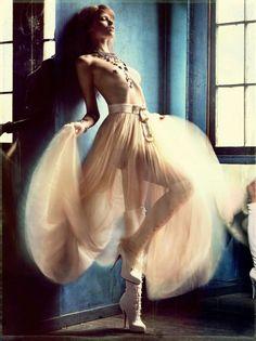 Greg Kadel - Photographer  Katie Mossman - Fashion Editor/Stylist  Peter Gray - Hair Stylist  Mariel Barrera - Makeup Artist  Abbey Lee Kershaw - Model