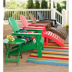 Create the patio of your dreams with patio furniture and patio dcor from Plow & Hearth. Quality patio furniture and charming patio dcor is just one click away. Wooden Adirondack Chairs, Adirondack Chair Cushions, Upholstered Swivel Chairs, Outdoor Chairs, Outdoor Decor, Outdoor Spaces, Outdoor Kitchens, Outdoor Living, Rustic Chair