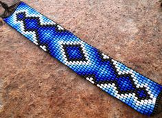 Mexican Huichol Loom Beaded Bracelet by Aramara on Etsy
