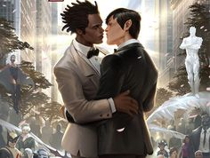 Variant cover for the Northstar wedding.
