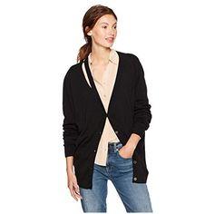 5b0edf5ef2 Cable Stitch Women s Soft Cotton Blend V-Neck Cardigan Sweater Small Black  V Neck Cardigan