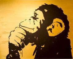 Monkey 2, Moose Art, Watercolor, Illustration, Animals, Pandas, Art, Paint, Pen And Wash