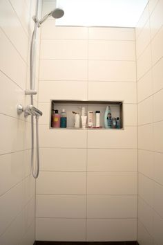 Gemauerte Dusche Badezimmer, gefliest