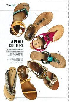 Magazine layout, shoes