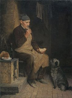 Albert Anker Old man taking a rest (Gyp) (1901)