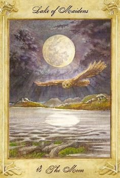Llewellyn Tarot - The Moon (lake of maidens) One of my favorite Moon cards!