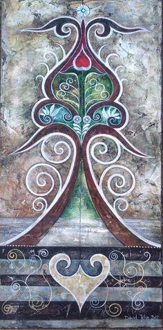 Dávid Júlia festőművész honlapja   Galéria   Legújabb képek Julia, David, Folk Art, Fantasy, Ornaments, Pattern, Crafts, Painting, Modern Art