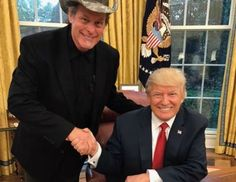 WASHED UP RACIST WHITE TRASH Ted Nugent's repeated calls for Obama's death didn't stop Trump from hosting him at the White House