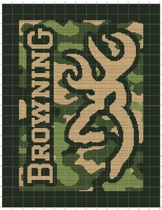 Browning deer logo crochet pattern