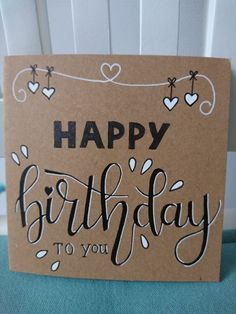 41 Ideas For Gifts Handmade Birthday Bday Cards Handmade Birthday Cards, Diy Birthday, Birthday Gifts, Birthday Quotes, Happy Birthday Hand Lettering, Handlettering Happy Birthday, Happy Birthday In Calligraphy, Birthday Card Drawing, Tarjetas Diy