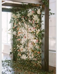 chic wedding backdrop ideas with floral card content 10 Brilliant Flower Wall Wedding Backdrops for 2018 - Oh Best Day Ever Diy Wedding Backdrop, Wedding Ceremony Backdrop, Diy Backdrop, Photo Booth Backdrop, Ceremony Decorations, Photo Booths, Floral Backdrop, Wedding Reception, Photo Backdrops
