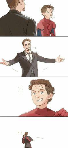 Iron Man and Spiderman Marvel Jokes, Marvel Avengers, Marvel Comics, Funny Marvel Memes, Marvel Heroes, Captain Marvel, Funny Memes, Spideypool, Disney Marvel