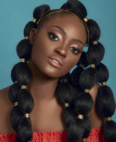 Puffballs Are The Latest Protective Style Taking Over The Internet - Kurzhaarfrisuren Cabello Afro Natural, Pelo Natural, Natural Hair Care, Natural Hair Styles, Natural Afro Hair, African Hairstyles, Afro Hairstyles, Black Women Hairstyles, Hairstyles Videos