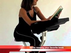 The FitDesk is a semi-recumbent folding exercise bike that supports the upper body allowing the user to work with a laptop, read or even use a game controller while pedaling. Folding Exercise Bike, Game Controller, Health And Fitness Tips, Easy Workouts, Upper Body, Get In Shape, Gadget, Books To Read, Lose Weight