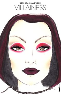 Need a #Halloween look? Get inspiration from the Villainess face chart created by our talented #Sephora artists #SephoraSelfie