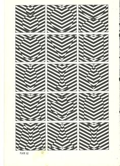 vintage optical illusion art print book plate by RecycleBuyVintage, $8.00