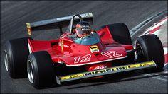 Gilles Villeneuve F1 Ferrari La Ferrari 312T4 de 1979