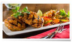 Sauce DianaMD et Marinade :: Recettes :: Hauts de cuisse de poulet à la thaïlandaise avec salade de patates douces grillées
