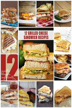 12 Grilled Cheese Sandwich Recipes! Amazing sandwich recipes!