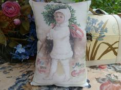 Christmas In August Little Girl with Tree small by Maisonvogue, $12.00