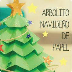 Decora tu casa en Navidad con ideas DIY. Aquí tenéis una idea genial para una tarde en casa: un árbolito de Navidad hecho con papel.