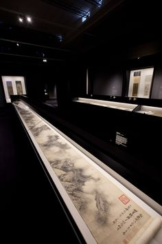 Installation image of 'Masterpieces of Chinese Painting 700 - 1900', (c) Victoria and Albert Museum, London, #ChinesePainting