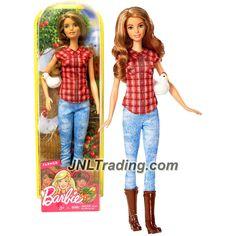 Mattel Year 2016 Barbie Career 12 Inch Doll - Barbie as FARMER (DVF53) with Chicken