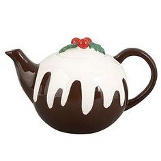 Lisa Stickley earthenware Christmas pudding teapot